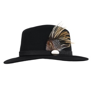 Hicks & Brown Suffolk Fedora (Guinea & Pheasant Feather)