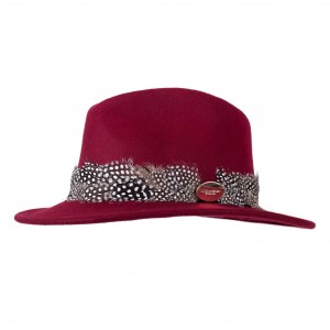 Hicks & Brown Fedora Maroon Guinea Wrap