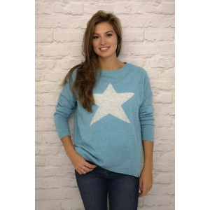 Luella Cashmere Mix Star Jumper