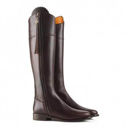 Fairfax & Favor Regina Leather Flat Boot