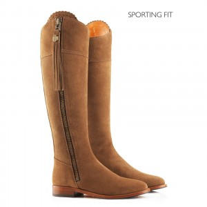 Fairfax & Favor Regina Suede Flat Boot (Sporting Fit)