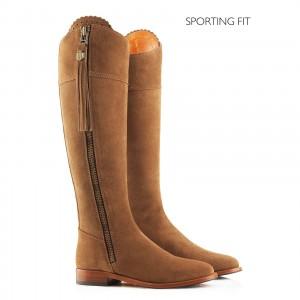 Fairfax & Favor Regina Flat Sporting Fit Suede Boot