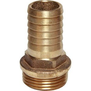 Aquafax Hose Connector Parallel Male Bronze