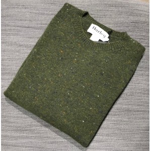 Harley Mens Cashmere Mix Crew Loden