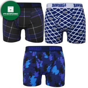 Bawbags Scottish 3-Pack Cotton Boxer Shorts