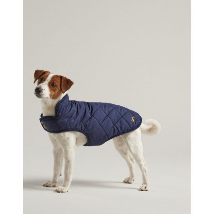 Joules Newdale Quilted Pet Coat French Navy
