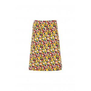 Weird Fish Malmo Organic Cotton Printed Jersey Skirt