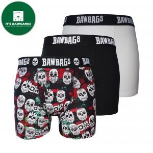 Skulls 3-Pack Cotton Boxer Shorts