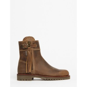 Penelope Chilvers Cropped Leather Tassel Boot Biscuit EU 38