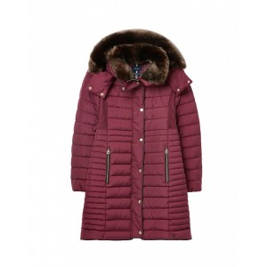 Joules Cherrington Coat Dark Purple UK 10